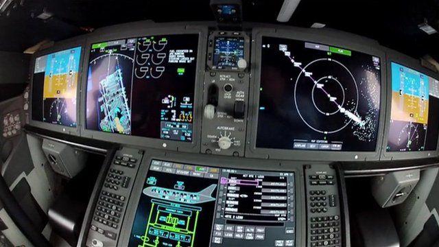 Cockpit of Dreamliner