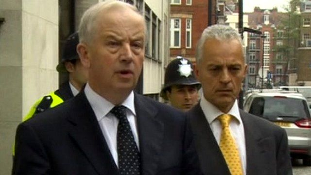 Family solicitor Robin Williams (left)