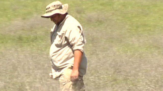 Meteorite hunter on the prowl