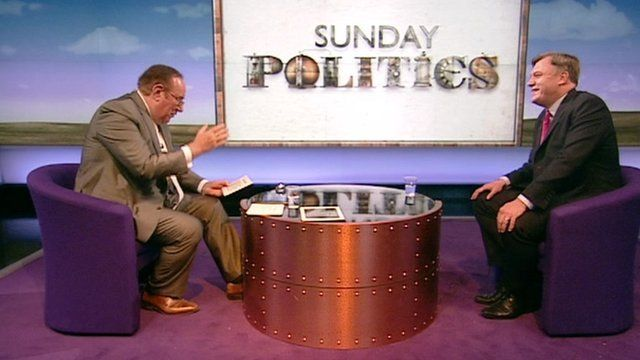 Andrew Neil and Ed Balls