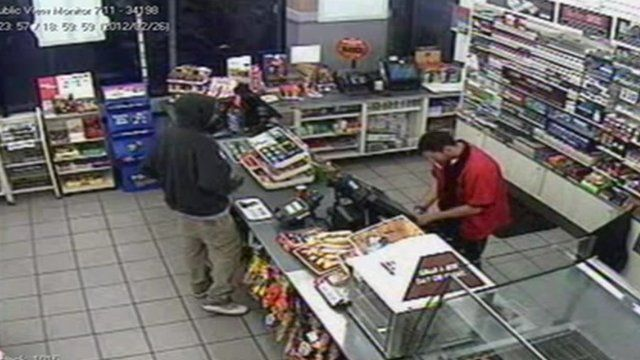 Trayvon Martin in security footage of Sanford 7-Eleven