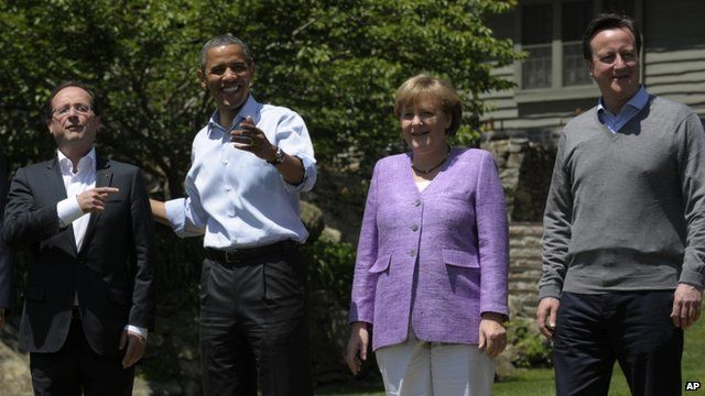 World leader at G8 summit
