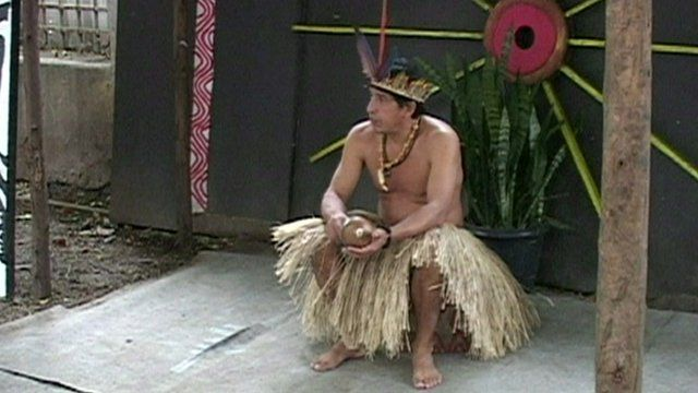 Afonso Apurina, a member of the indigenous community