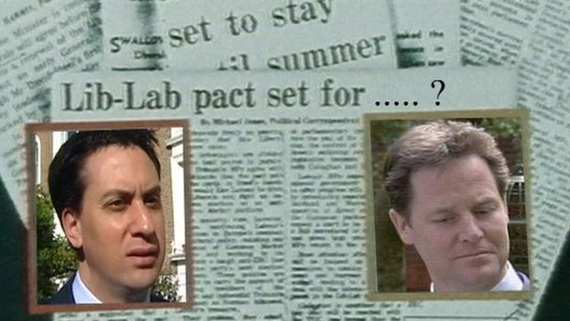 Miliband and Clegg graphic