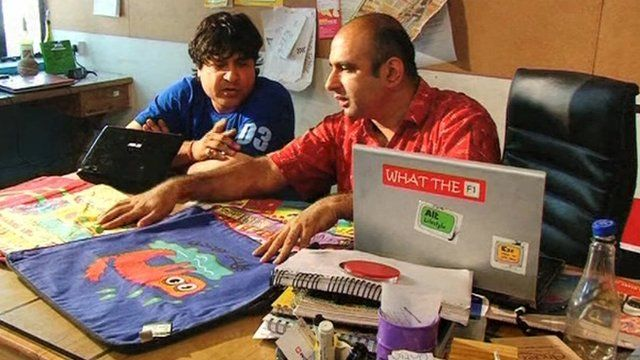 Rahul Anand and Rajat Tuli in their office