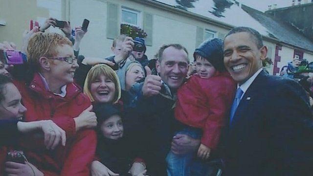 Obama during a visit to Ireland