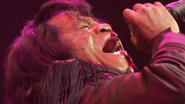 James Brown singing