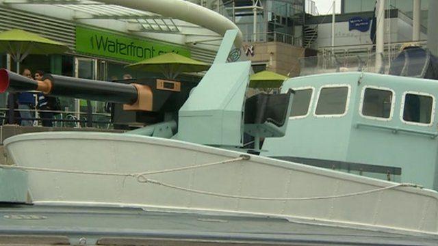 D-Day gun boat