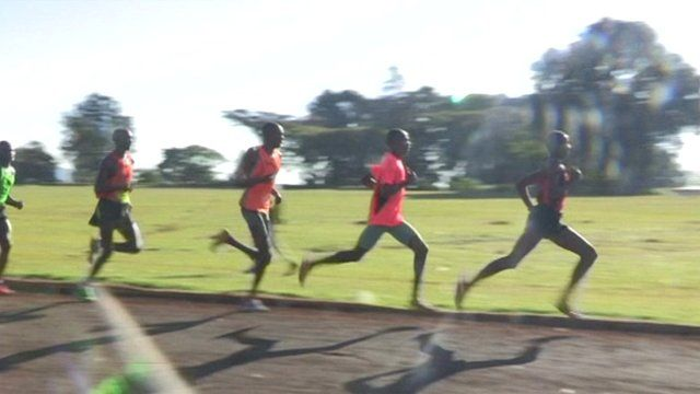 Runners in Iten, Kenya