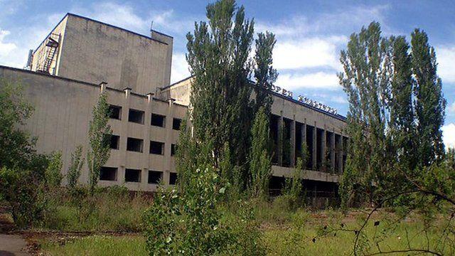 Deserted building in Pripyat