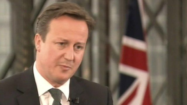 David Cameron - Courtesy Channel 4 News