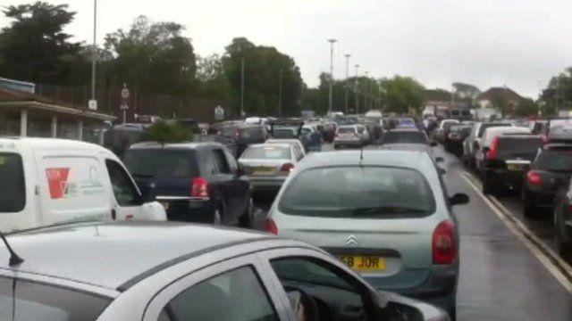 Traffic chaos