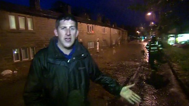 The BBC's Dan Johnson in Mytholmroyd