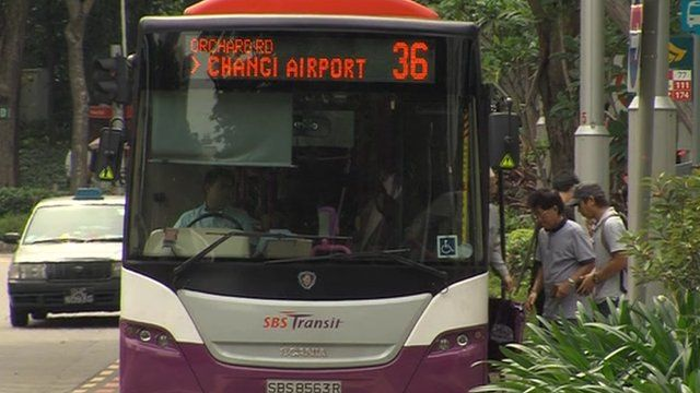 A bus in Singapore