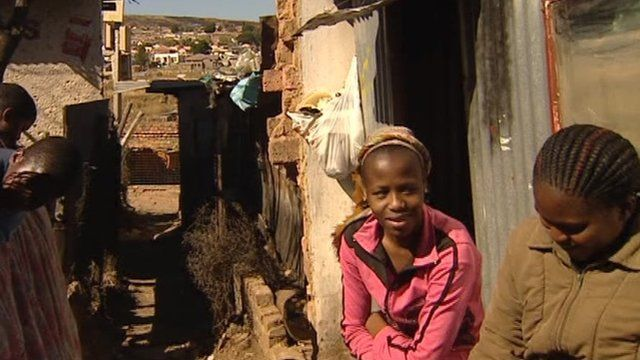 A poor community in Johannesburg