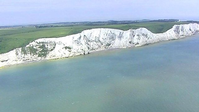 White cliffs near Dover