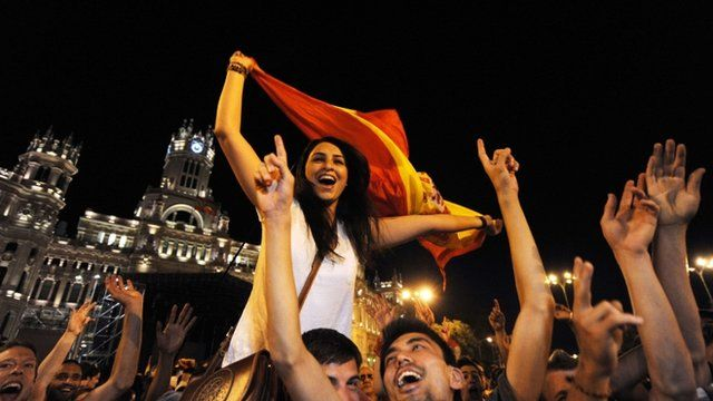 Spain supporters in Madrid