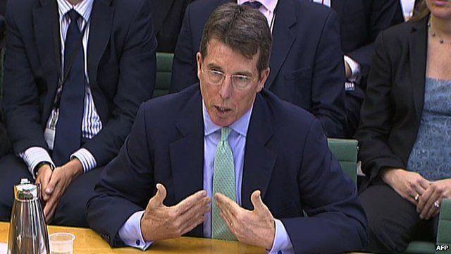 Bob Diamond at the Treasury Select Committee hearing