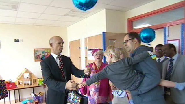 Matt Dawson at the new North Devon District Hospital new children's unit