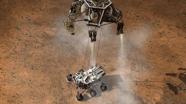 Animation of rover landing