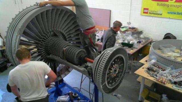 Replica engine being built