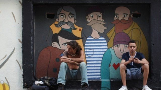 Young people relax in Madrid