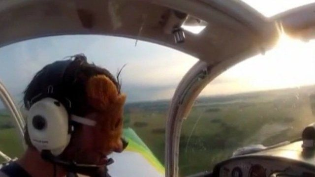A Swedish pilot in the air over Belarus