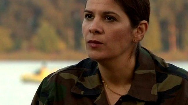 Thwaiba Kanafani, member of the Free Syrian Army