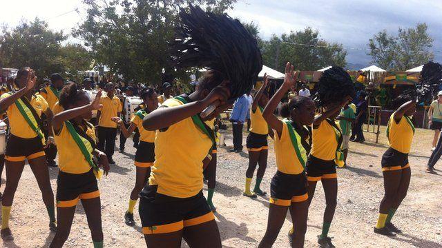 Jamaican dancers during independence celebrations