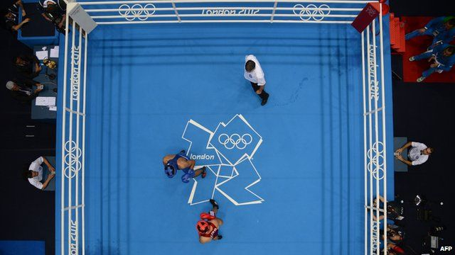 Boxers in the ExCeL Arena