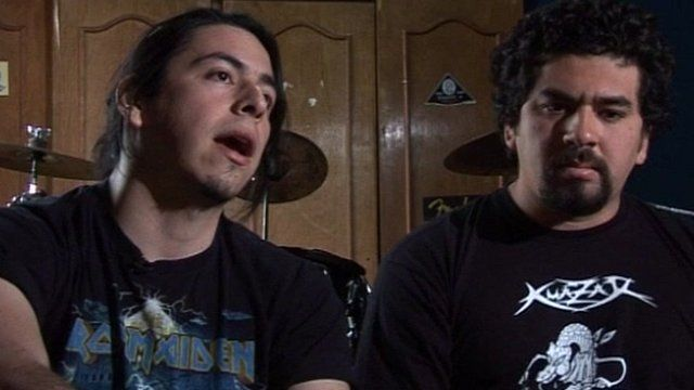 Two of the band members of Kuazar