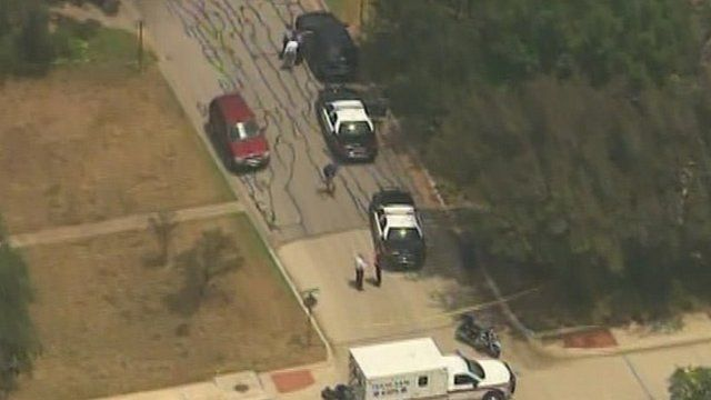 Police and emergency services on the scene in Texas