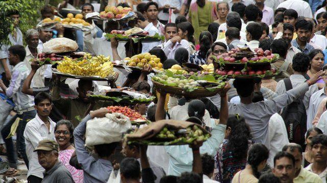 A market in Mumbai