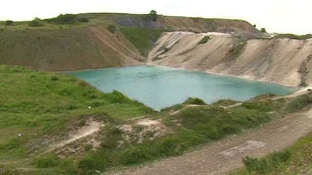 Harpur Hill Quarry in Buxton