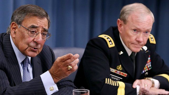 US Secretary of Defence Leon Panetta (left) and Chairman of the Joint Chiefs of Staff General Martin Dempsey