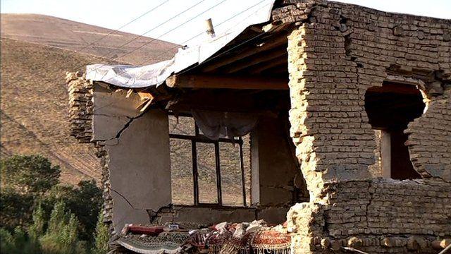 Crumbling building