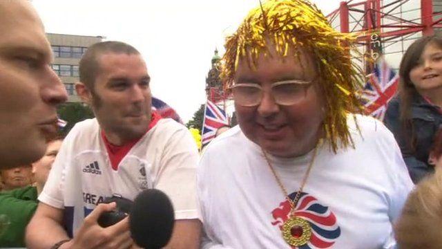 Ennis fans in Sheffield