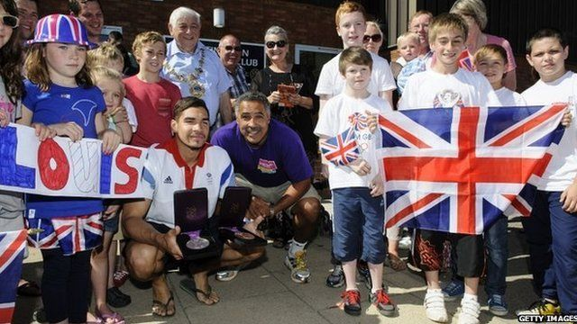 Louis Smith and Daley Thompson