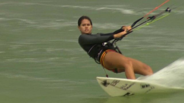 Brazilian kitesurfer