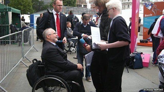 School Reporters interviewing Sir Philip Craven
