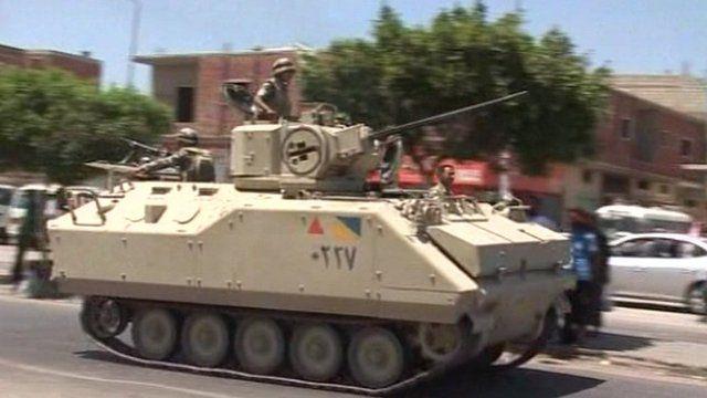 An Egyptian tank