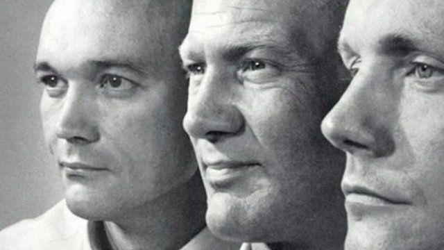 The Apollo 11 crew: Armstrong, Collins and Aldrin