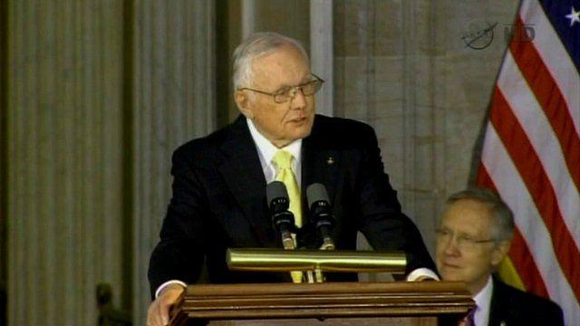 Neil Armstrong speaking in November 2011