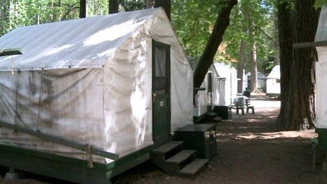 Yosemite campsite