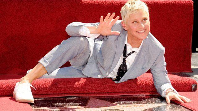 Ellen DeGeneres receives a star on the Hollywood Walk of Fame
