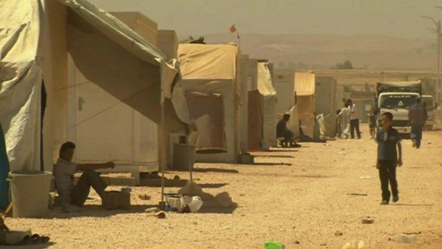 Syrian refugee camp in northern Jordan