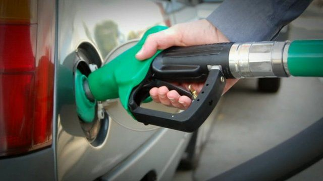 Vehicle being filled up with petrol