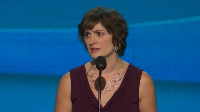 Sandra Fluke speaks at the Democratic National Convention
