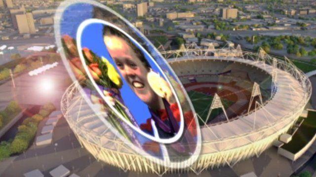 Ellie Simmonds and Olympic Stadium