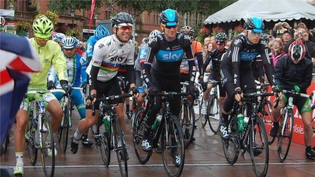 Start of stage four of Tour of Britain